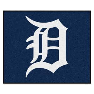 MLB Detroit Tigers Blue 5ft. x. 6in Indoor Tailgater Area Rug