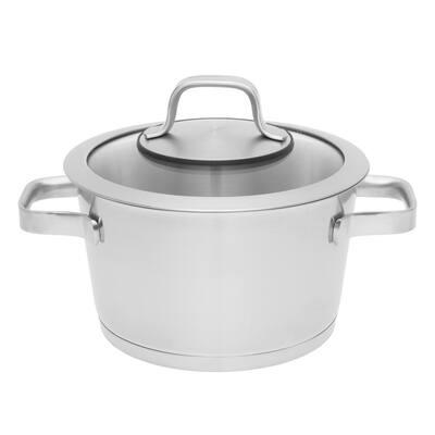 Essentials Manhattan 3.2 qt. Stainless Steel Casserole Dish with Lid