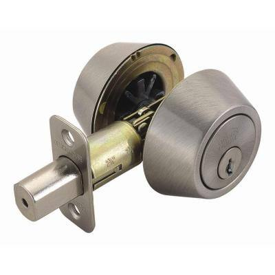 Double Cylinder Satin Nickel Deadbolt