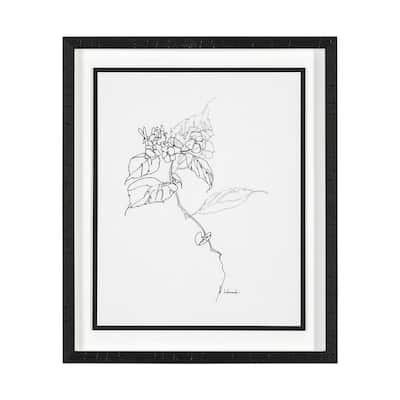 Arrangement I Framed Botanical Nature Art Print 21.5 x 25.5