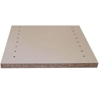 White Melamine Drilled Wood Shelf 11.75 in. D x 97 in. L