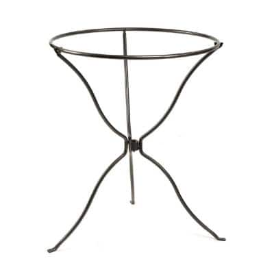 29 in. Tall, Graphite Powder Coat Tripod Ring Stand with Removable Ring