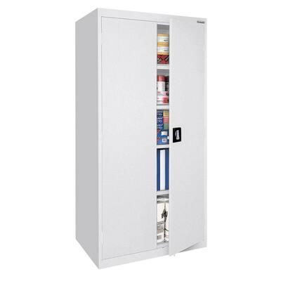 Elite Series Steel Freestanding Garage Cabinet in White (36 in. W x 72 in. H x 24 in. D)