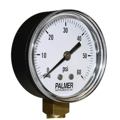 2.5 in. Dial 60 psi Painted Steel Case Utility Gauge