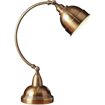 Plato 23 in. Brass Adjustable Desk Lamp