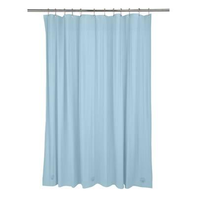 72 in. x 72 in. Heavy Grommet Shower Liner in Blue