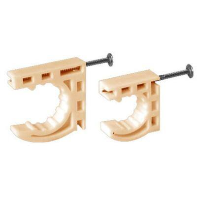 Water-Tite 1/2 in. CTS Tubing Plastic Half Clamp with Preloaded Nail (100-Pack)