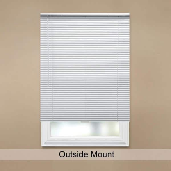 Hampton Bay White Cordless Room Darkening 1 In Aluminum Mini Blind For Window 47 In W X 48 In L 10793478518838 The Home Depot