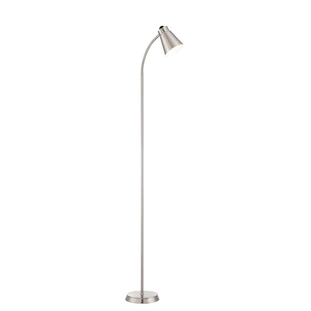 Filament Design Lola 64 In Brushed Nickel Floor Lamp Hd 831 The Home Depot