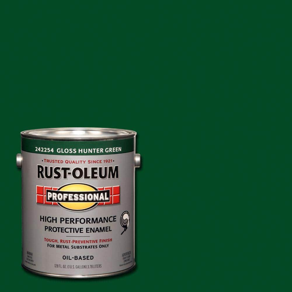 Rust-Oleum Professional 1 gal. High Performance Protective Enamel Gloss Hunter Green Oil-Based Interior/Exterior Metal Paint (2-Pack)