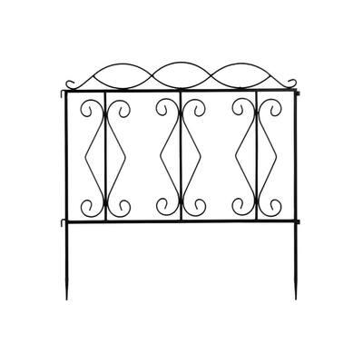 24 in. Iron Garden Fence (Set of 4)