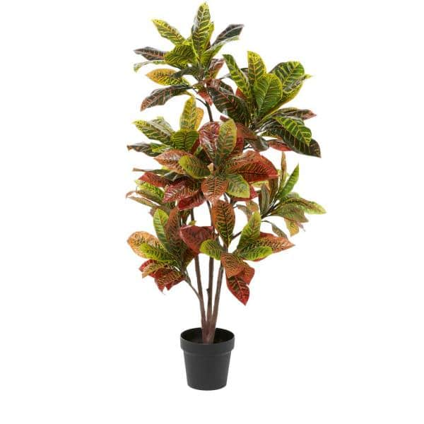 Litton Lane 46 In Green Artificial Plants In Pots For Home Decor Indoor 88290 The Home Depot