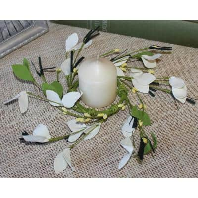 2.25 in. Small Flower and Berry Candle Ring (Set of 4)