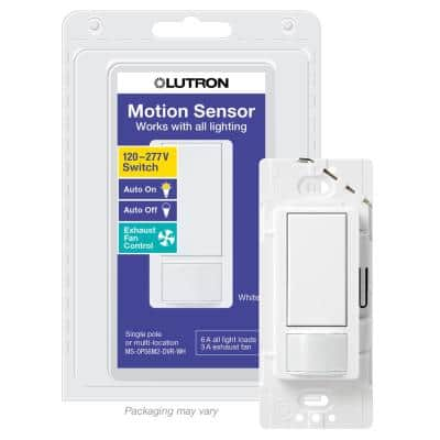Maestro  6 Amp Dual Voltage Motion Sensor Switch, Single-Pole, White