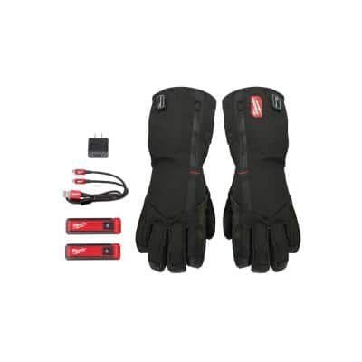 Medium Rechargeable Heated Gloves with REDLITHIUM USB Battery and Charger