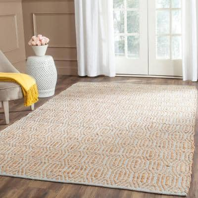 Cape Cod Silver/Natural 9 ft. x 12 ft. Geometric Area Rug
