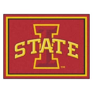 NCAA - Iowa State University Red 10 ft. x 8 ft. Indoor Rectangle Area Rug