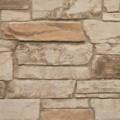 Ledgestone 11 in. x 11 in. Desert Tan Faux Stone Siding Sample