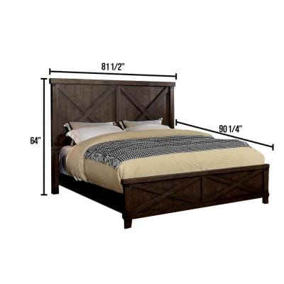 Bianca Brown California King Bed Panel Headboard Bed