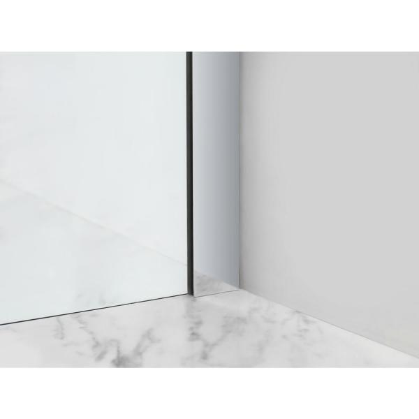 Aston Bromley 34 25 In To 35 25 In X 36 375 In X 72 In Frameless Corner Hinged Shower Enclosure In Chrome Sen967ez Ch 352936 10 The Home Depot