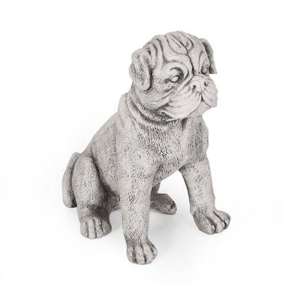 Fraser 12.5 in. Outdoor Dog Garden Statue