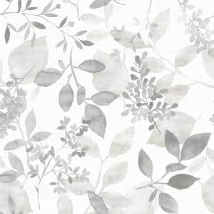 Grey Breezy Vinyl Peel & Stick Wallpaper Roll (Covers 30.75 Sq. Ft.)