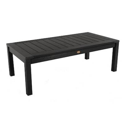 Adirondack Black Rectangular Recycled Plastic Outdoor Coffee Table