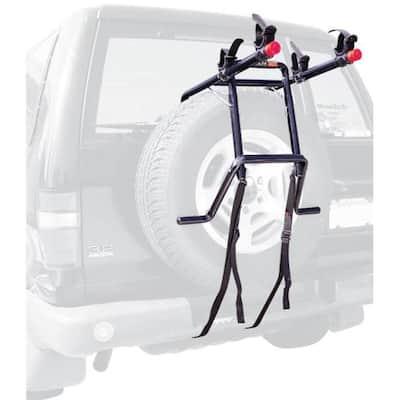 70 lbs. Capacity 2-Bike Vehicle Spare Tire Bike Rack Trunk Mount Bike Rack