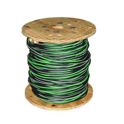 500 ft. 4/0-4/0-4/0-2/0 Black Stranded AL MHF USE-2 Cable