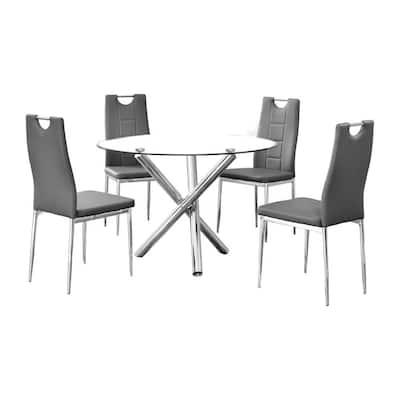 Mozart 5 Pcs Dinette Set, Grey