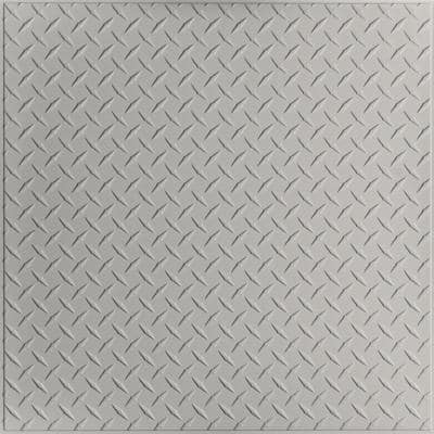 Diamond Plate Stone 2 ft. x 2 ft. Lay-in or Glue-Up Ceiling Panel (Case of 6)