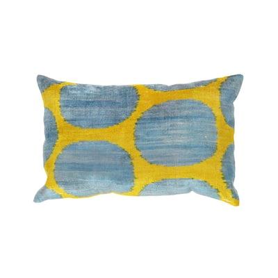 Ikat Geometric 16 in. x 24 in. Velvet Pillow