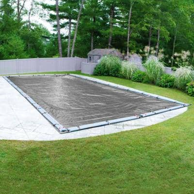 Platinum 25 ft. x 50 ft. Rectangular Silver Solid In-Ground Winter Pool Cover