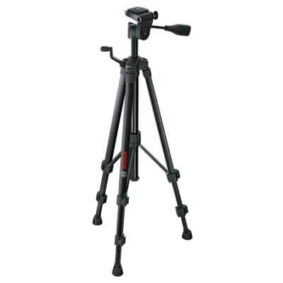 Compact Tripod with Extendable Height for Use with Line Lasers, Point Lasers, and Laser Distance Tape Measuring Tools