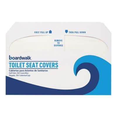 Premium Half-Fold Toilet Seat Covers (250 Covers per Sleeve, 4 Sleeves per Carton)