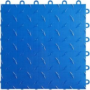 12 in. W x 12 in. L Royal Blue Diamondtrax Home Modular Polypropylene Flooring (10-Tile/Pack) (10 sq. ft.)