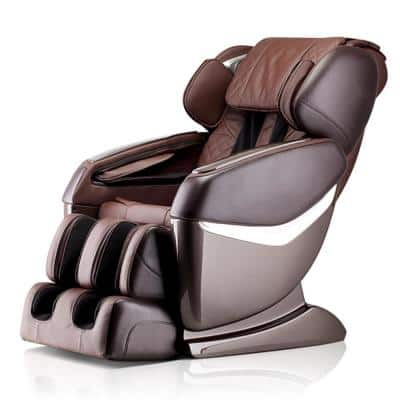 Luxury in 2-Tone Brown with Bluetooth Speakers and Multi-Therapy Programs Ultimate Massage Fitness and Wellness Chair