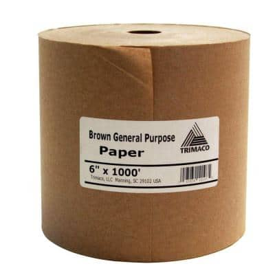 Easy Mask 6 IN. X 1000 FT. Brown General Purpose Masking Paper