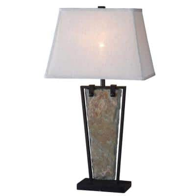 Free Fall 30 in. Natural Slate Table Lamp
