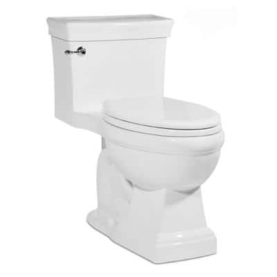 Julian 1-piece 1.28GPF Single Flush Elongated Toilet in White, Seat Included