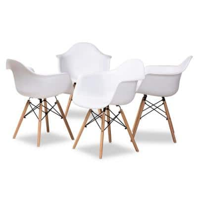 Galen White and Oak Brown Dining Chair (Set of 4)