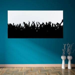''Let's Party'' Frameless Free Floating Tempered Art Glass by EAD Art Coop Wall Art