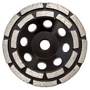 4.5 in. Double Row Diamond Grinding Cup Wheel