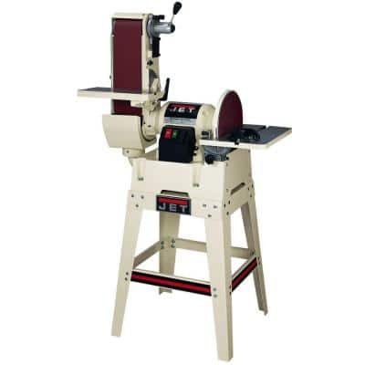 115/230-Volt JSG-6DCK 1.5 HP 6.5 in. x 48 in. Belt and 12 in. Disc Sander with Open Stand