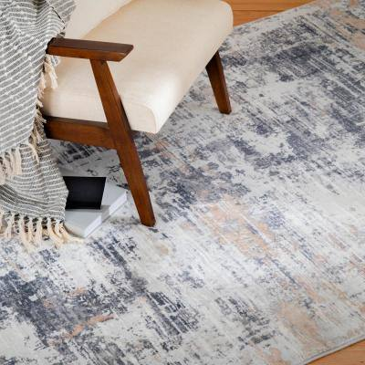 Bazaar Audria Multi 5 ft. x 7 ft. Painterly Polyester Area Rug