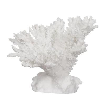 9.5 in. White Coral Decor