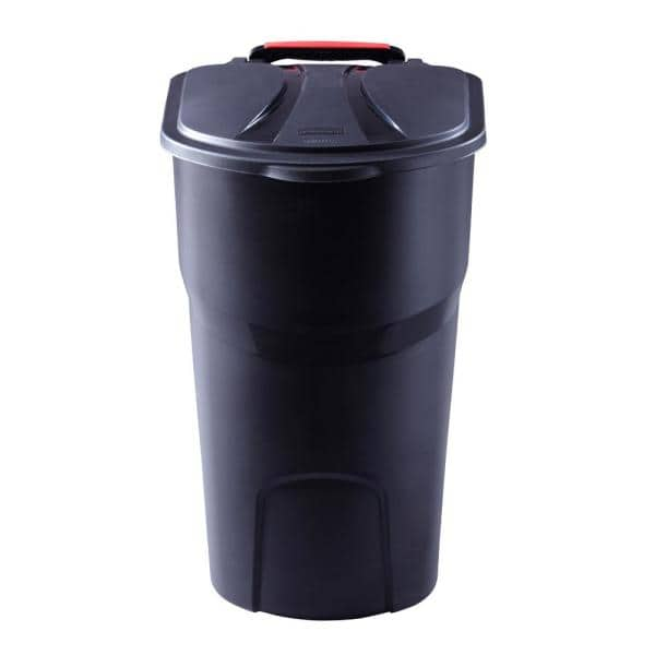 Rubbermaid Roughneck 45 Gal Black, Rubbermaid Outdoor Trash Can With Lid