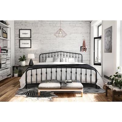 Bushwick Black King Metal Bed