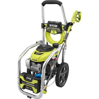 3300 PSI 2.3 GPM Cold Water Gas Pressure Washer with Honda GCV190 Idle Down