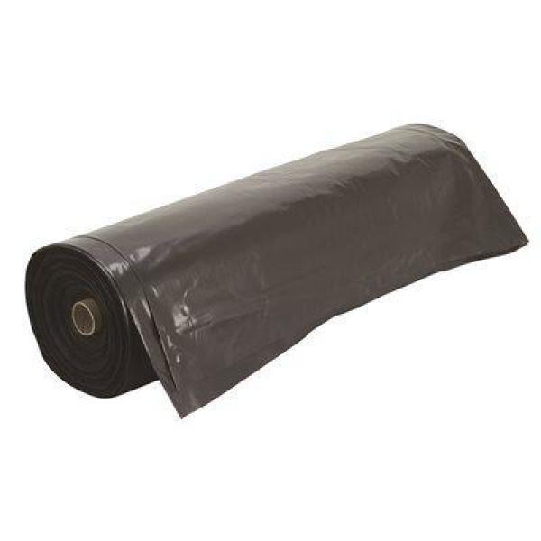 10 ft. W x 100 ft. L 4 mil Black Plastic Sheeting Roll
